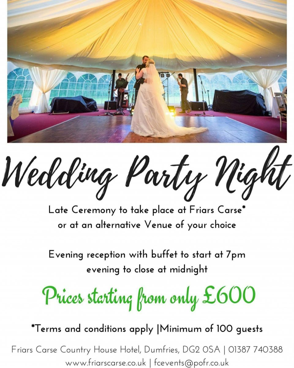 Wedding Party Night Offer