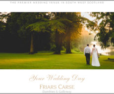 Friars Carse Wedding Brochure 19 cover
